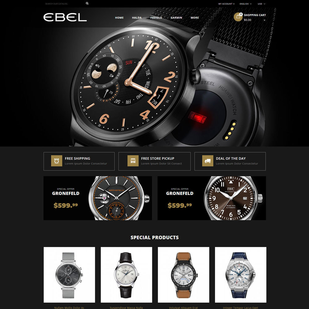 theme - Fashion & Shoes - Ebel Watch Store - 3