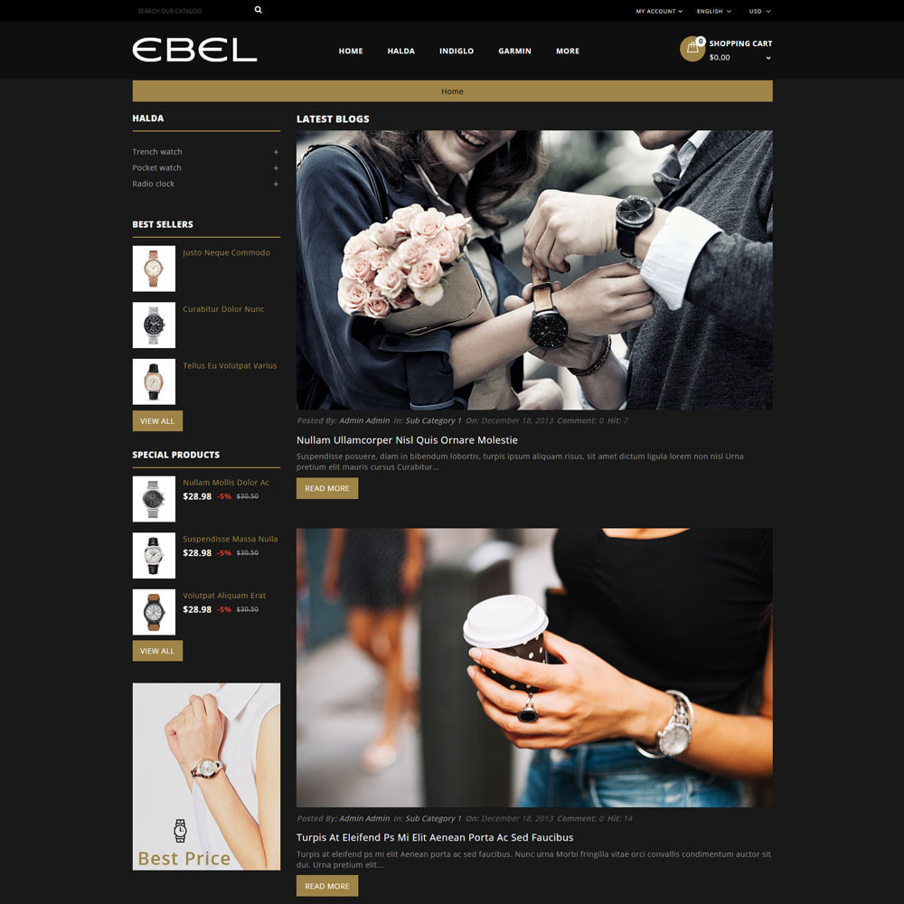 theme - Fashion & Shoes - Ebel Watch Store - 7
