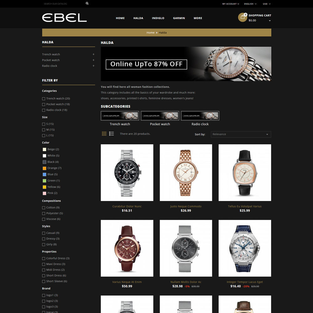 theme - Mode & Chaussures - Ebel Magasin de montres - 4