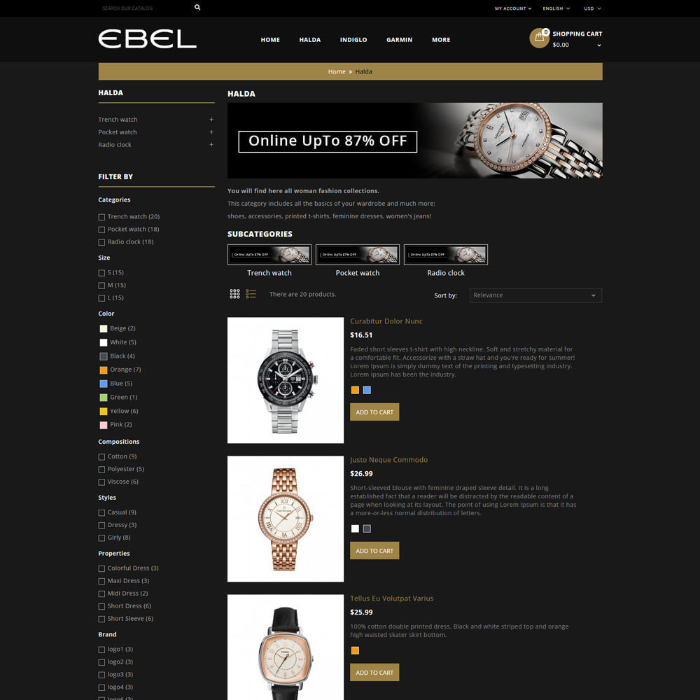 theme - Mode & Chaussures - Ebel Magasin de montres - 5