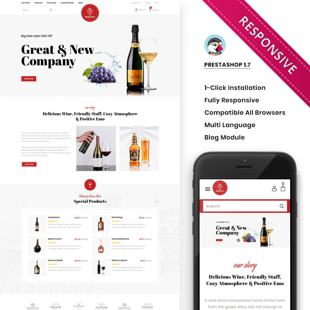 theme - Drink & Wine - Winecup - The Wine Shop - 1