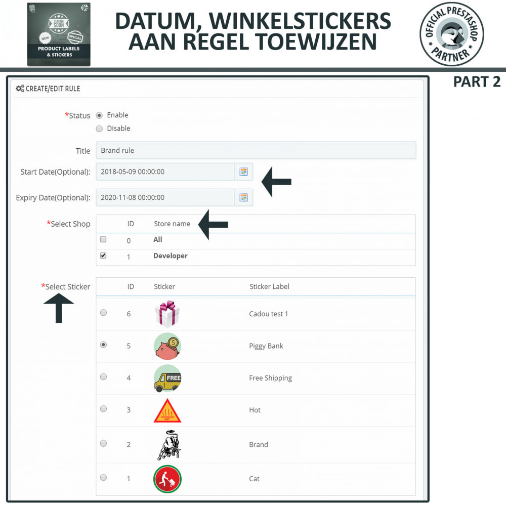 module - Badges & Logos - Product Labels en Stickers - 13
