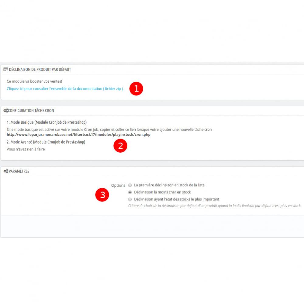 module - Déclinaisons & Personnalisation de produits - Playinstock - gestion des déclinaisons par défaut - 3
