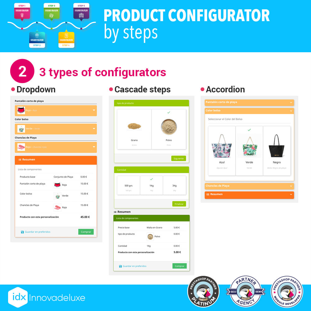 module - Versies & Personalisering van producten - Advanced product configurator by steps - 3