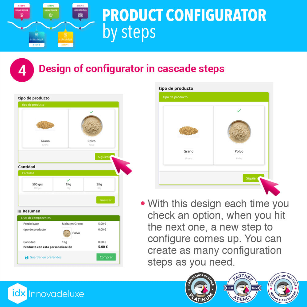 module - Versies & Personalisering van producten - Advanced product configurator by steps - 5