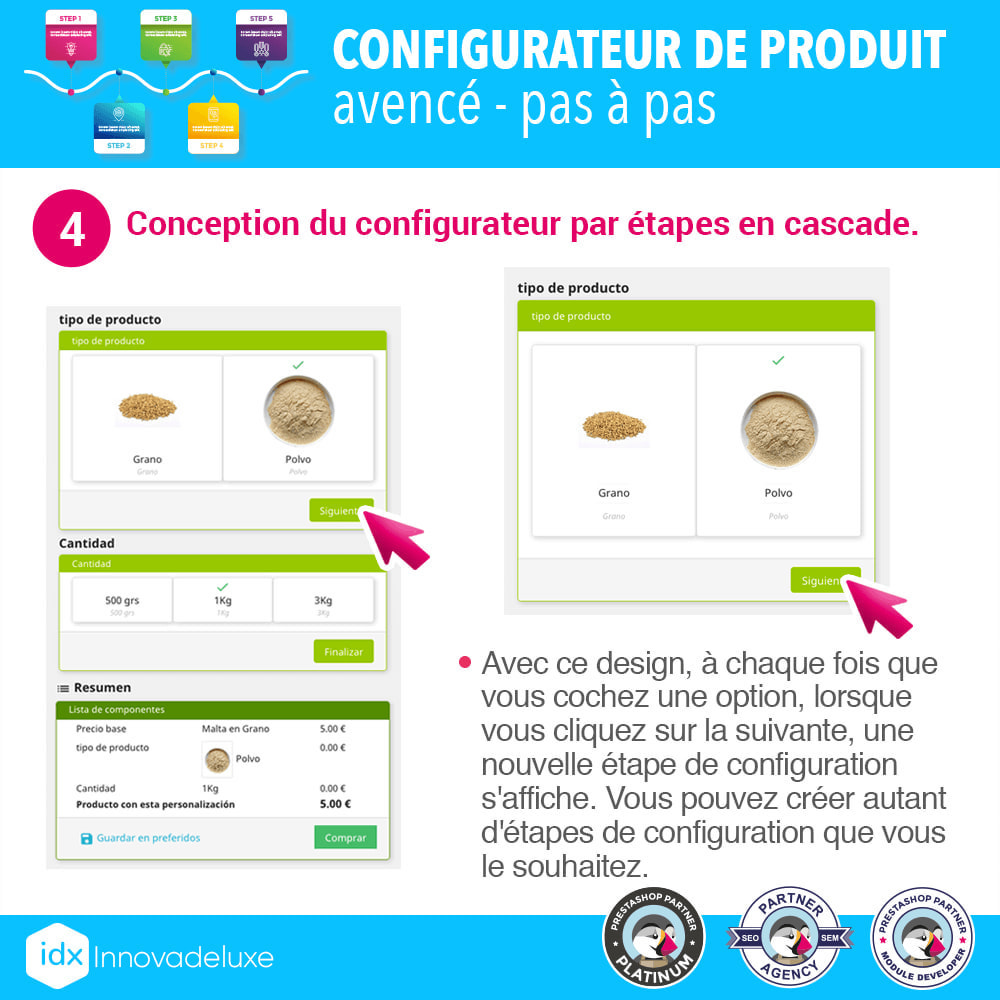 module - Déclinaisons & Personnalisation de produits - Configurateur de produit avancé - pas à pas - 5