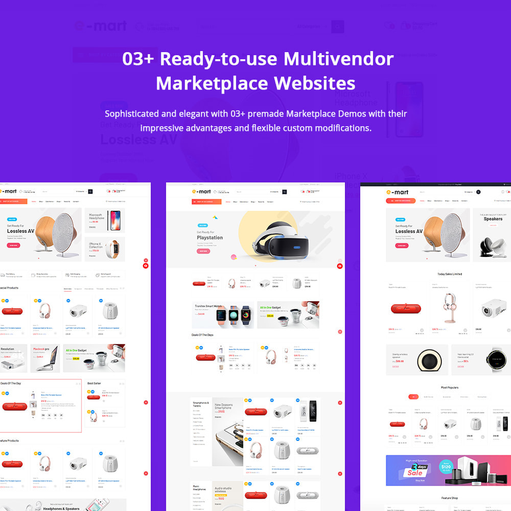 theme - Electrónica e High Tech - Bicomart Multi-Vendor Marketplace Template - 1
