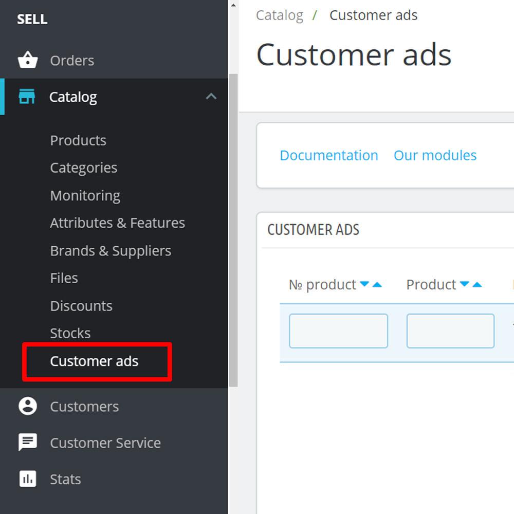 module - Stworzenia platformy handlowej - Tablica ogłoszeń dla klientów - 9