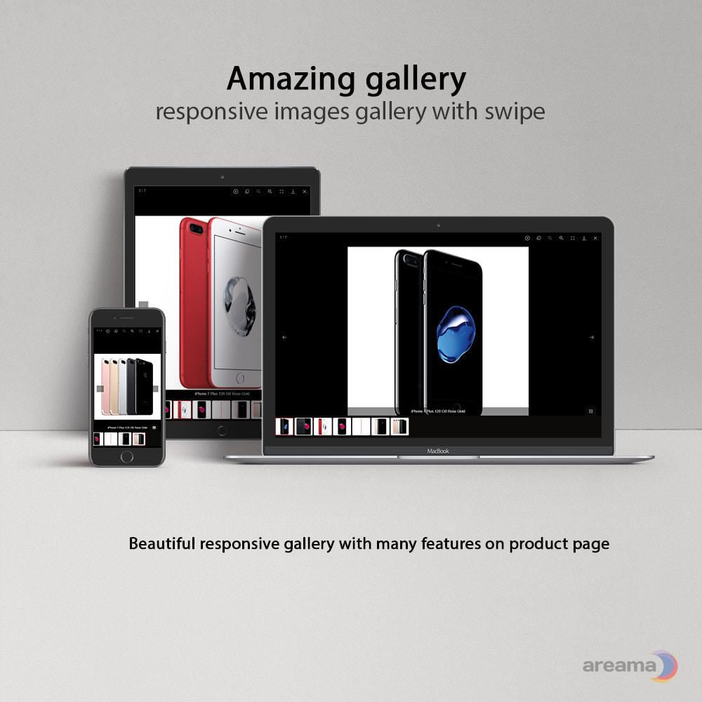 module - Sliders & Galerias - Amazing gallery: responsive images gallery + Zoom - 1