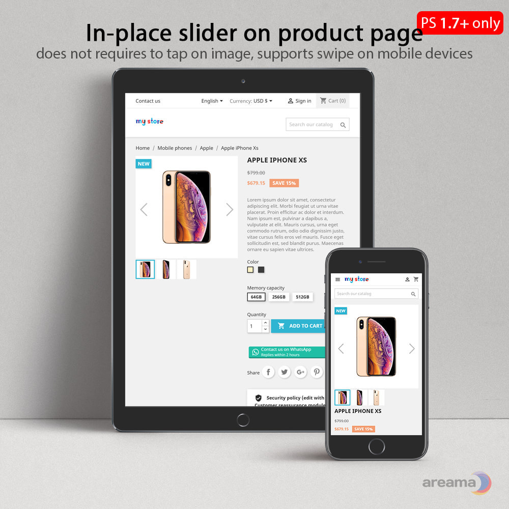 module - Sliders & Galeries - Amazing gallery: responsive images gallery + Zoom - 5