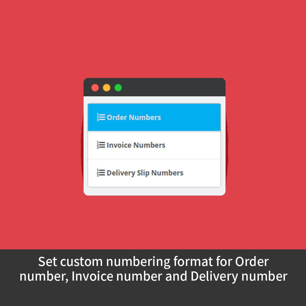 module - Buchhaltung & Rechnung - Custom Order Numbers - 2