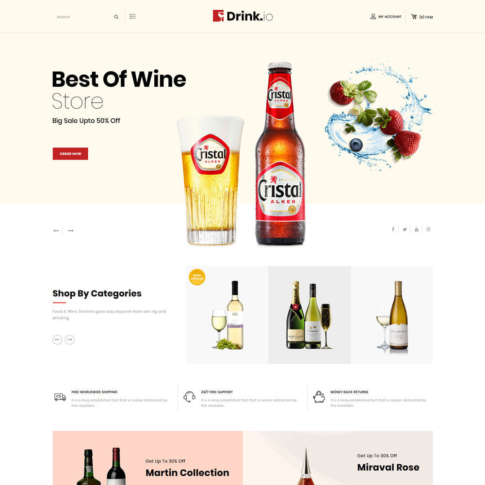 theme - Bebidas y Tabaco - Drinkio - La tienda de vinos - 4