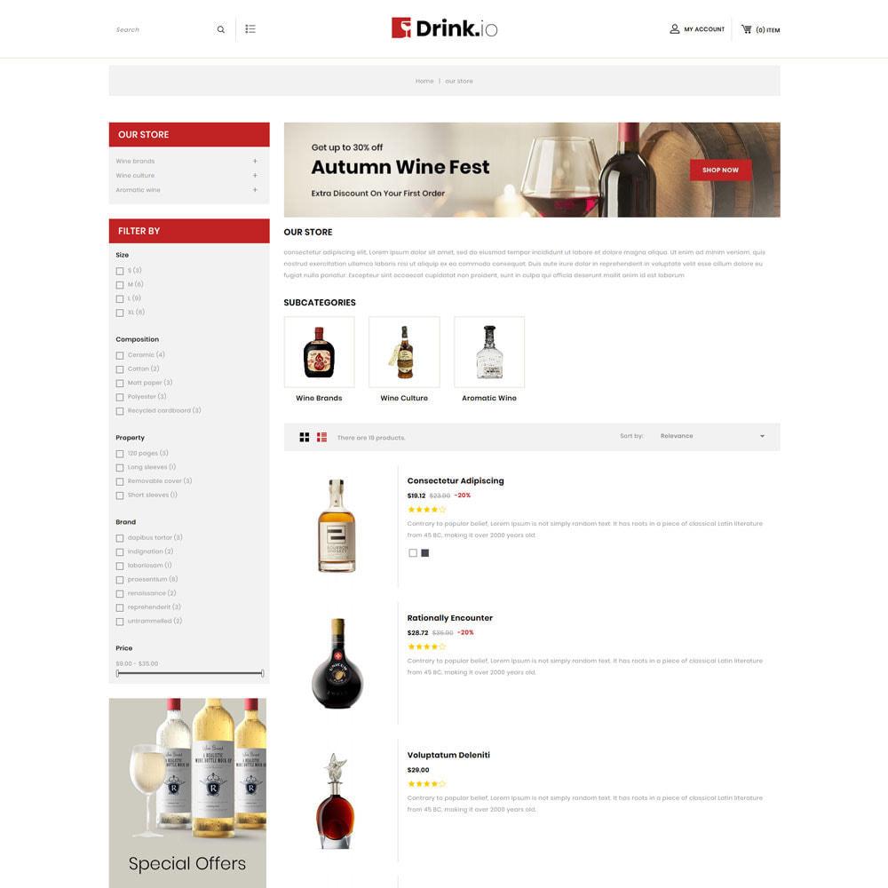 theme - Bebidas y Tabaco - Drinkio - La tienda de vinos - 6