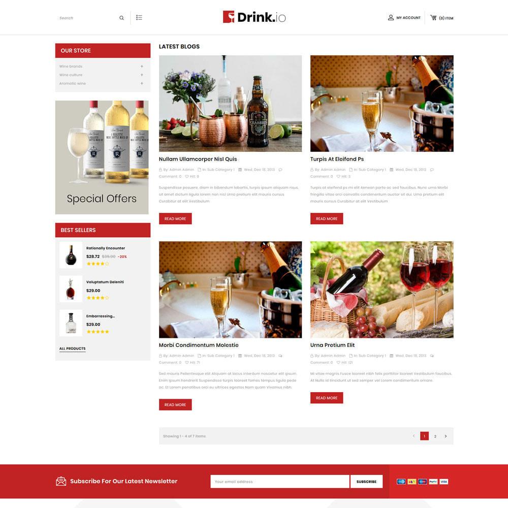 theme - Bebidas y Tabaco - Drinkio - La tienda de vinos - 8