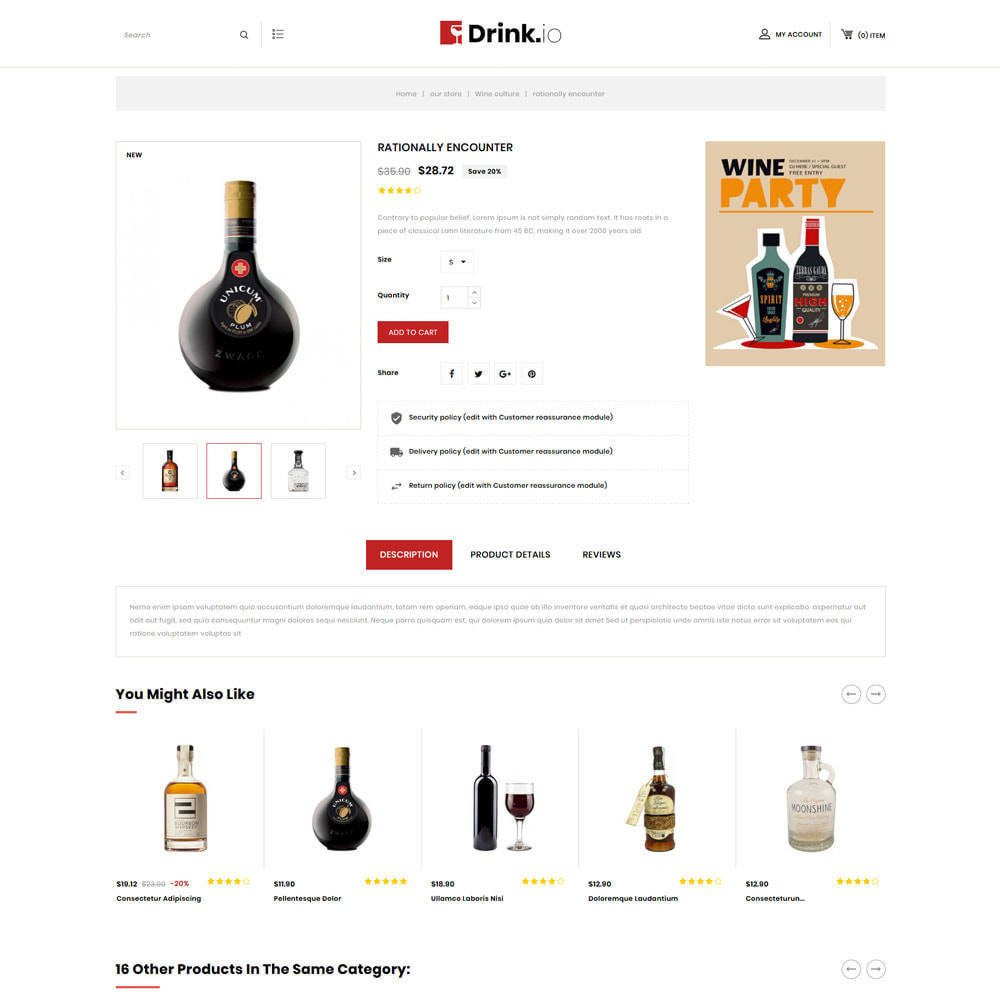 theme - Boissons & Tabac - Drinkio - Le magasin de vin - 7