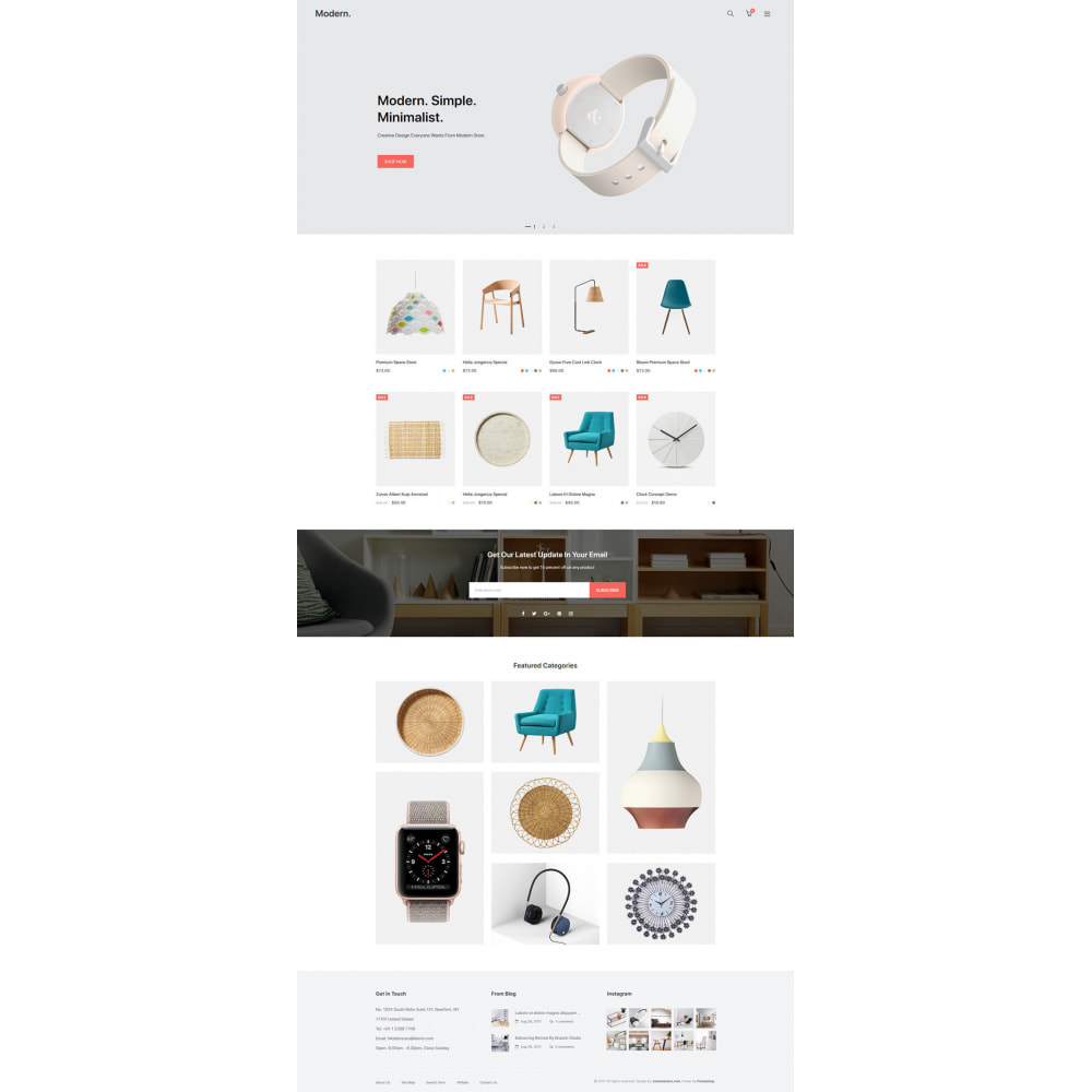 theme - Home & Garden - Modern - Minimal Decor Store - 8