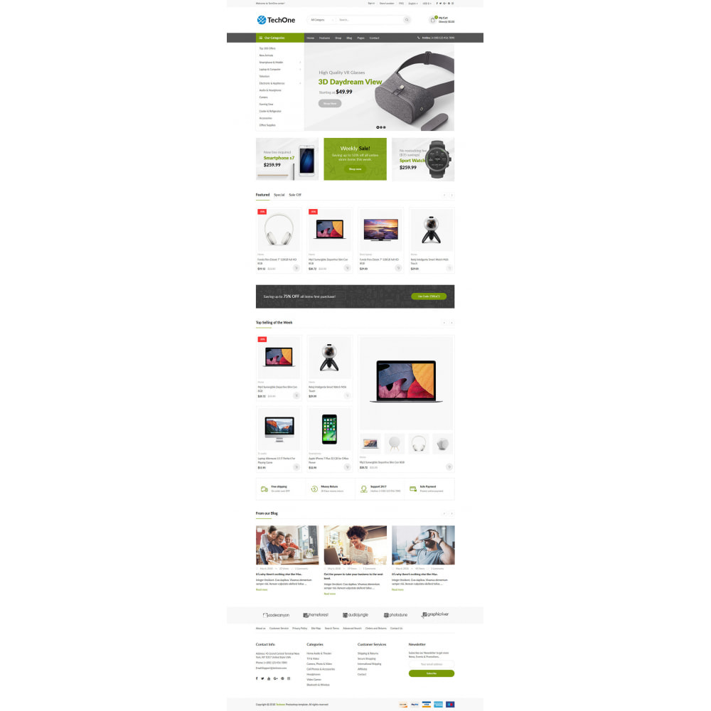theme - Electronics & Computers - TechOne - Digital Store - 7