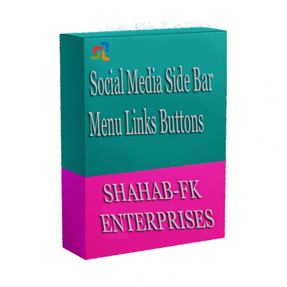 module - Widgets réseaux sociaux - Menu latéral des médias sociaux sur la page d'accueil - 7