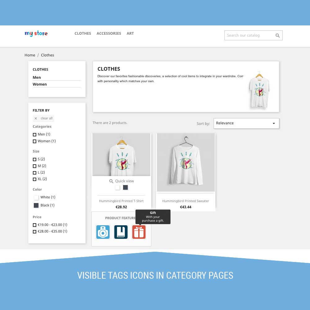 module - Etiquettes & Logos - Icon Tags for products - 7