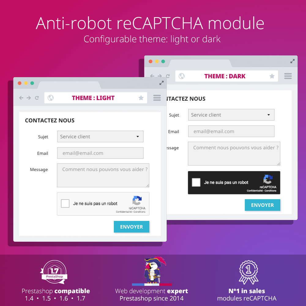 module - Security & Access - re Captcha - Anti Spam - recaptcha - anti fake accounts - 3