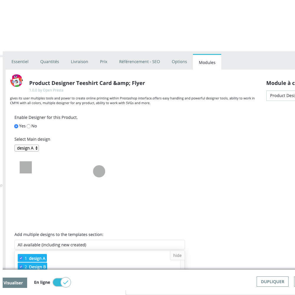 module - Combinations & Product Customization - Product Designer Studio - 18