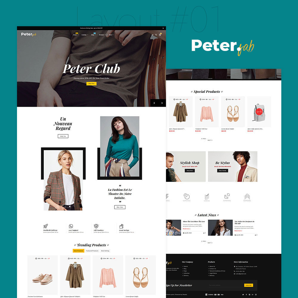 theme - Fashion & Shoes - Peter - Fashion Boutique For Creatives - 2