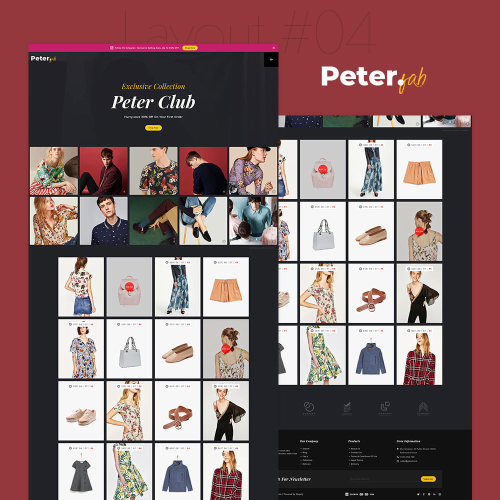 theme - Fashion & Shoes - Peter - Fashion Boutique For Creatives - 5