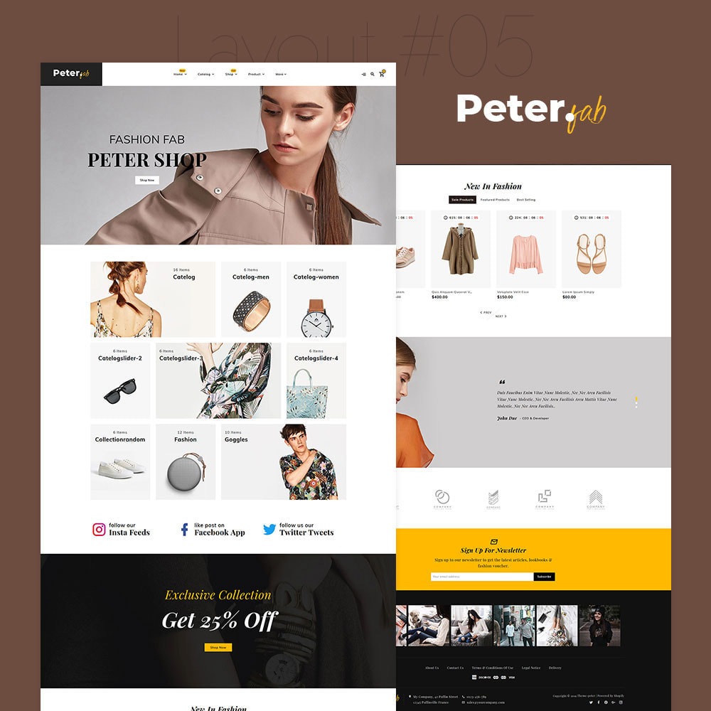 theme - Fashion & Shoes - Peter - Fashion Boutique For Creatives - 6