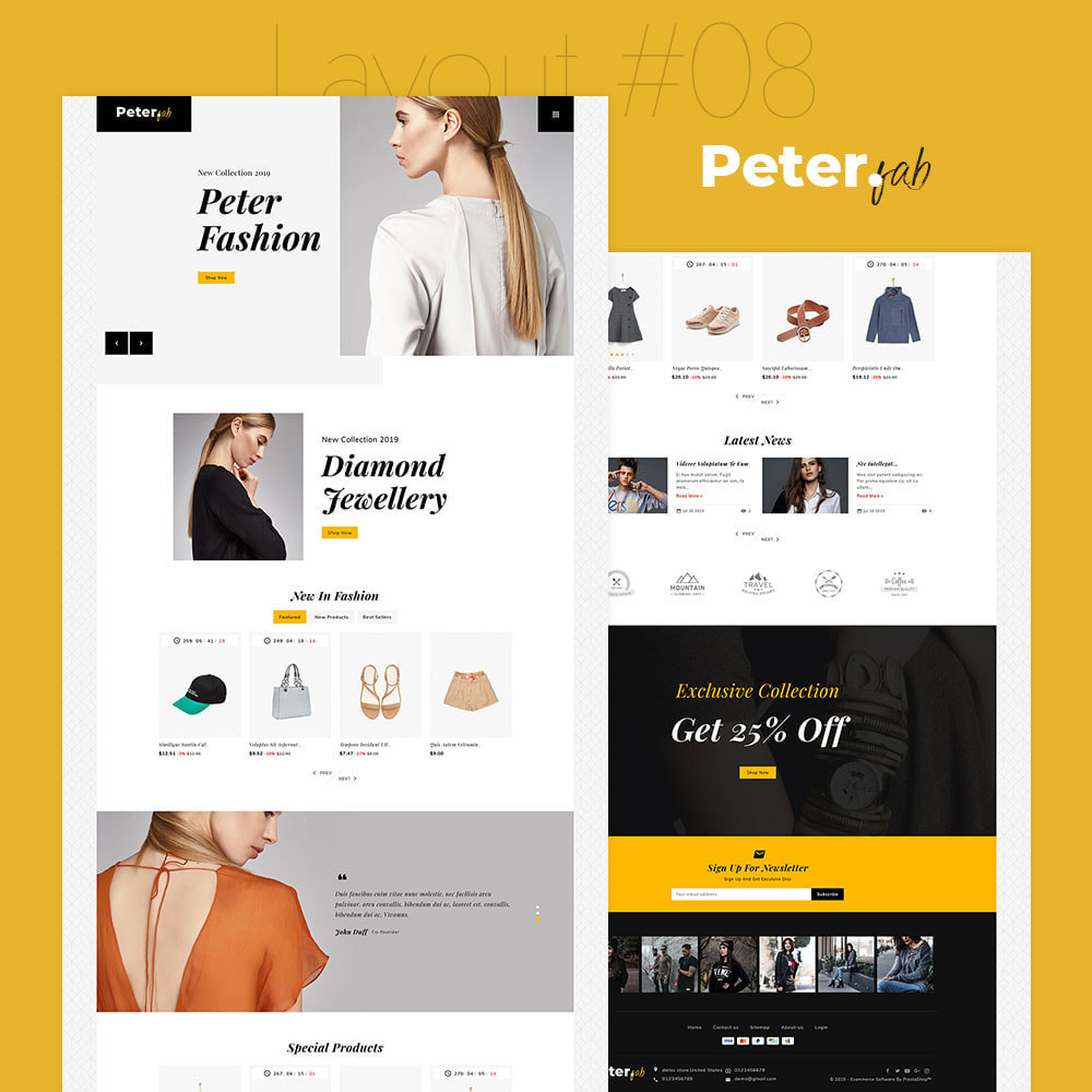 theme - Fashion & Shoes - Peter - Fashion Boutique For Creatives - 9