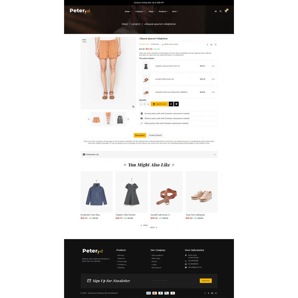 theme - Fashion & Shoes - Peter - Fashion Boutique For Creatives - 14