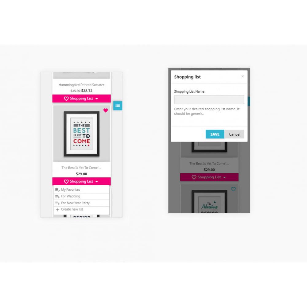 module - Lista życzeń & Karta podarunkowa - Shopping List   Wishlist Buy Later   Favorite Products - 30
