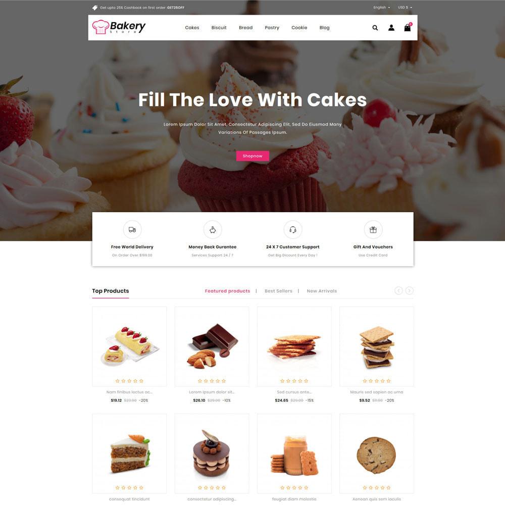 theme - Gastronomía y Restauración - The Bakery Store - 2