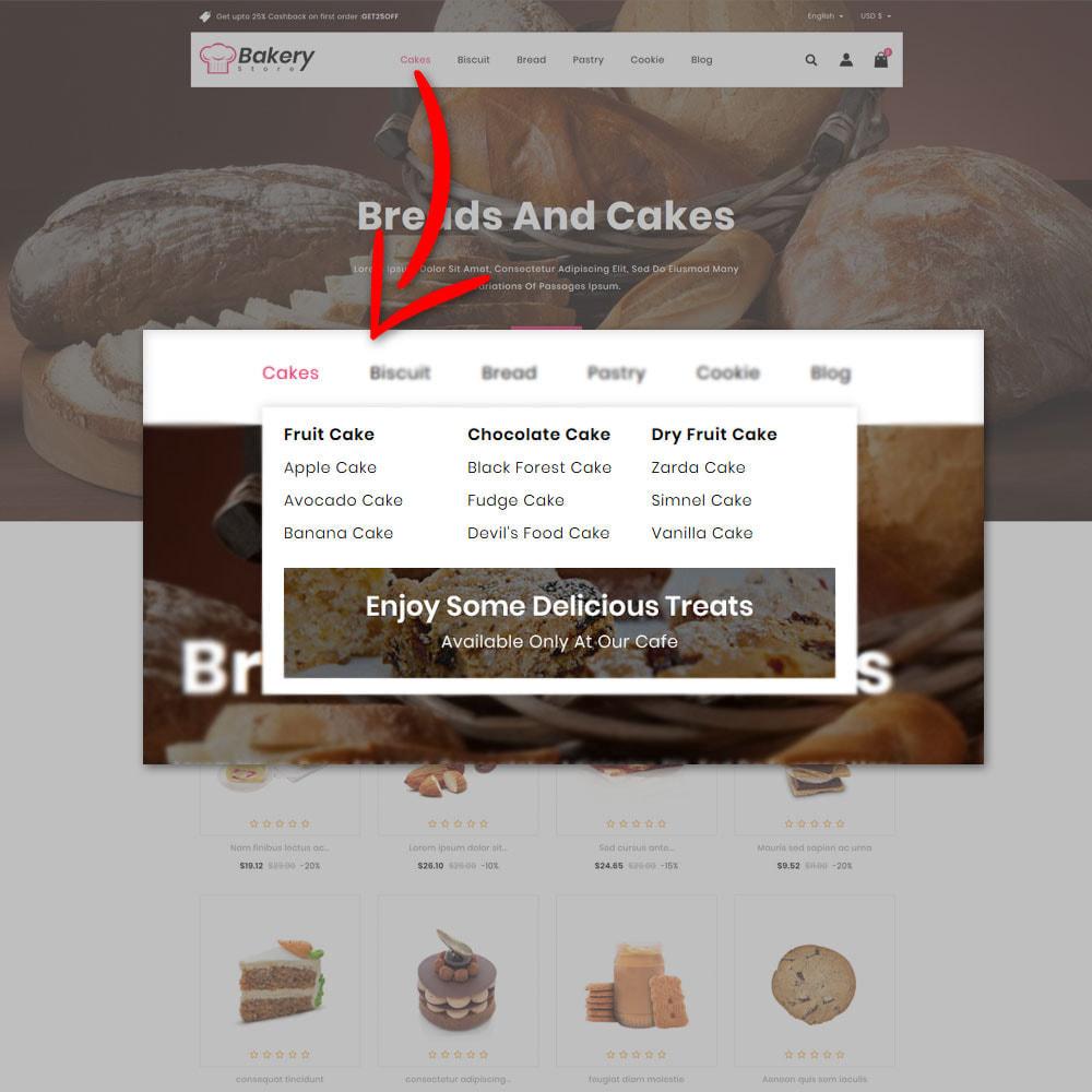 theme - Gastronomía y Restauración - The Bakery Store - 7