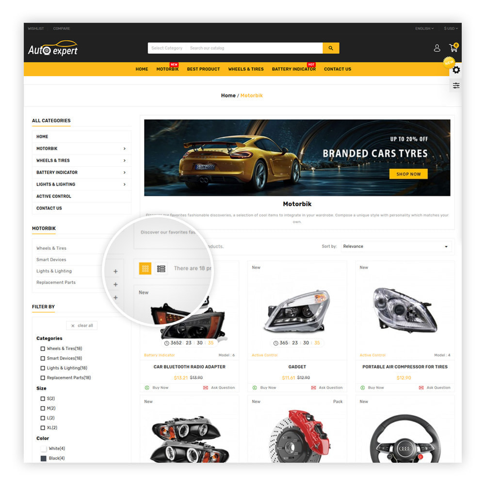 theme - Coches y Motos - AutoExport Autopart Shop - 3