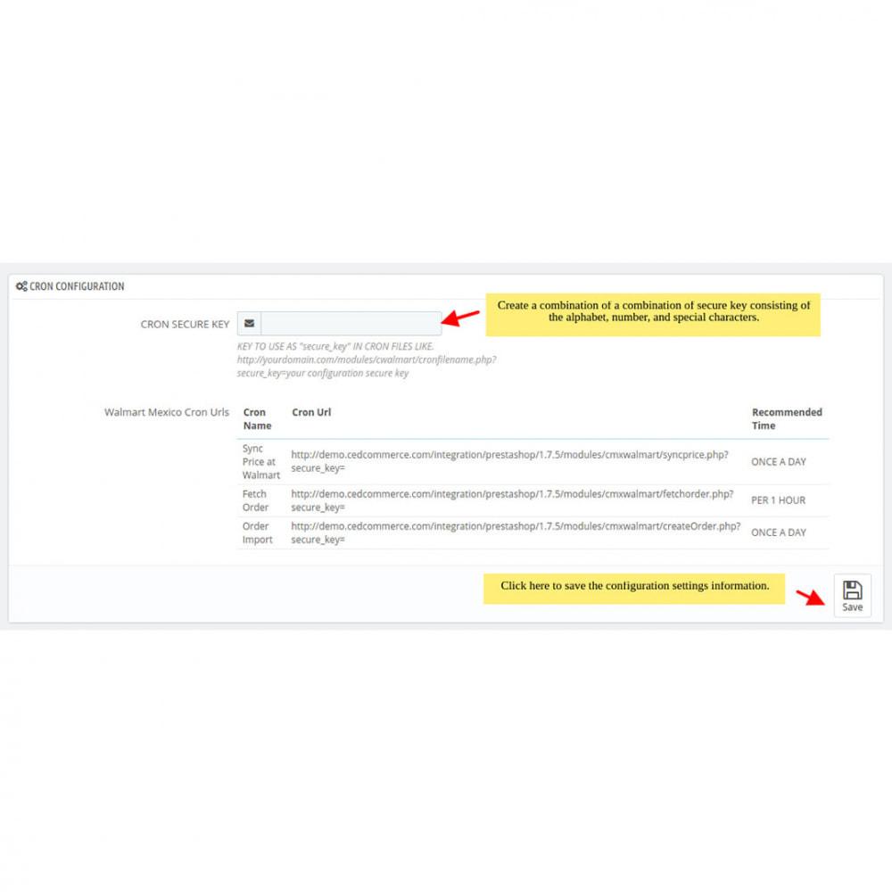 module - Datenabbindungen zu Drittsystemen (CRM, ERP, ...) - Walmart Mexico Integration - 5