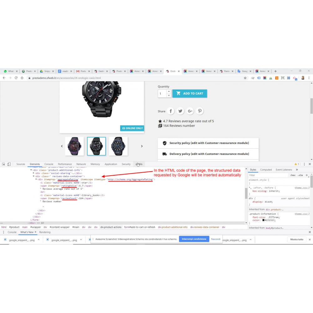 module - SEO (Pozycjonowanie naturalne) - Google Structured Data Snippet for Product reviews - 2
