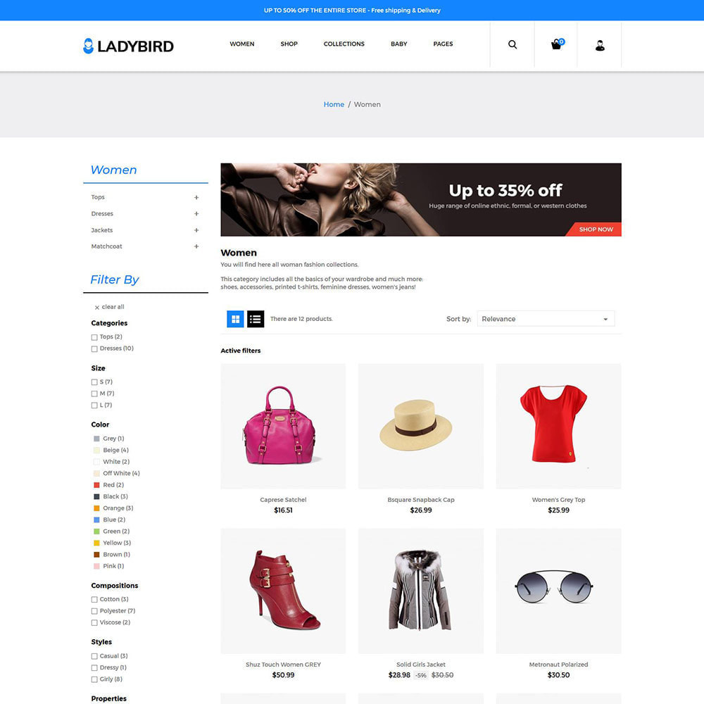 theme - Moda & Calzature - Fashion Accessories - Bag Perfume Dress Store - 2