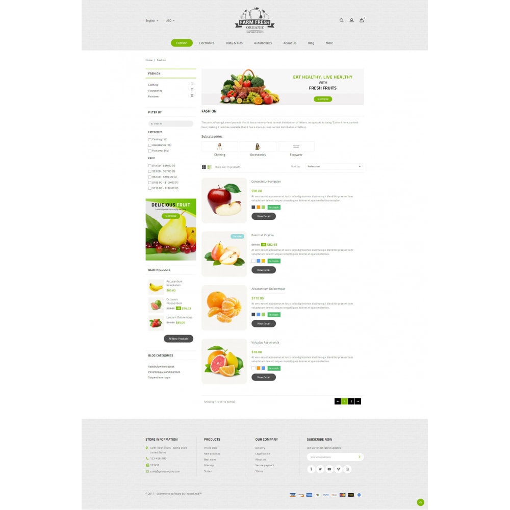 theme - Alimentos & Restaurantes - Farm Fresh - Super Market Store - 13