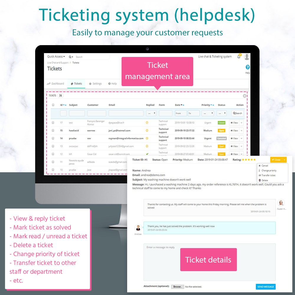 module - Ondersteuning & Online chat - Live Chat and Ticketing System - 2