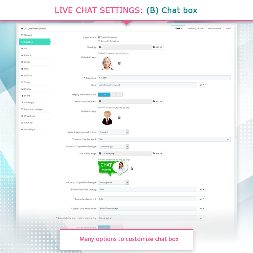 module - Ondersteuning & Online chat - Live Chat and Ticketing System - 5