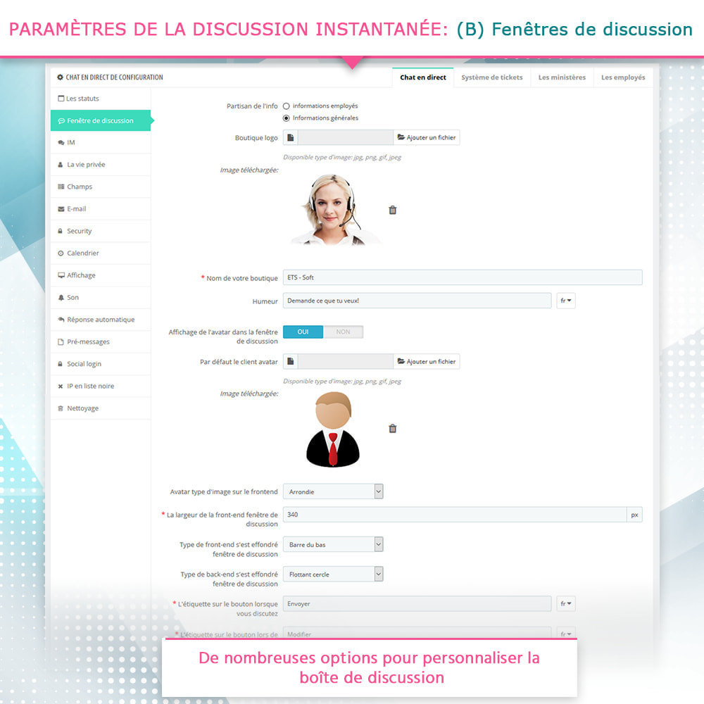 module - Support & Chat Online - Chat en direct et Système de tickets - 5