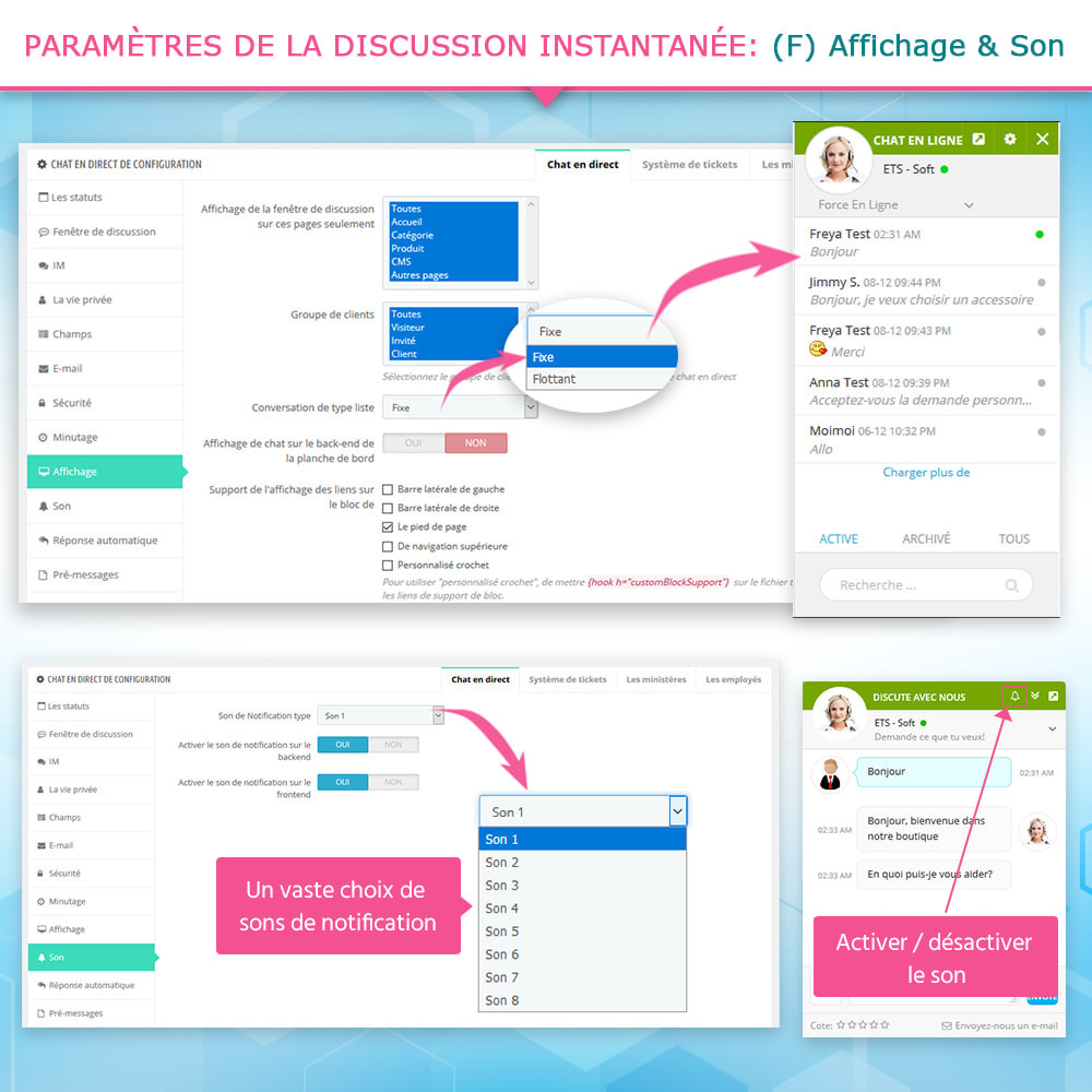 module - Support & Chat Online - Chat en direct et Système de tickets - 9