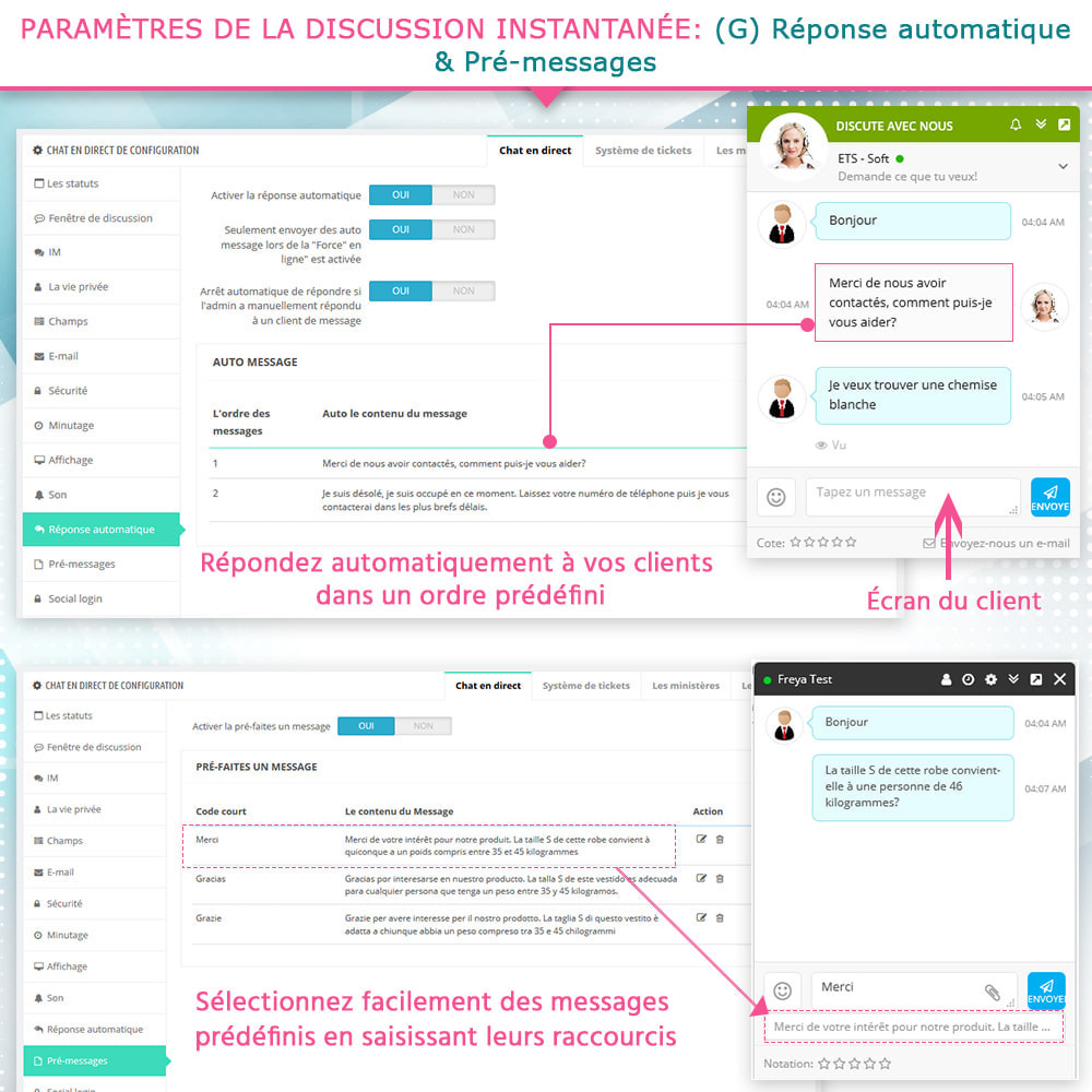 module - Support & Chat Online - Chat en direct et Système de tickets - 10