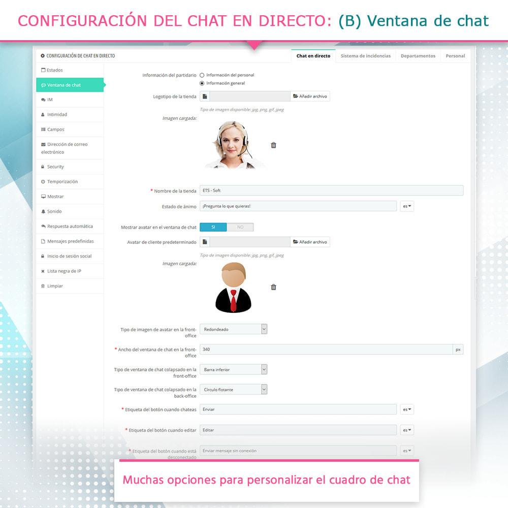 module - Asistencia & Chat online - Chat en directo y Sistema de incidencias - 5