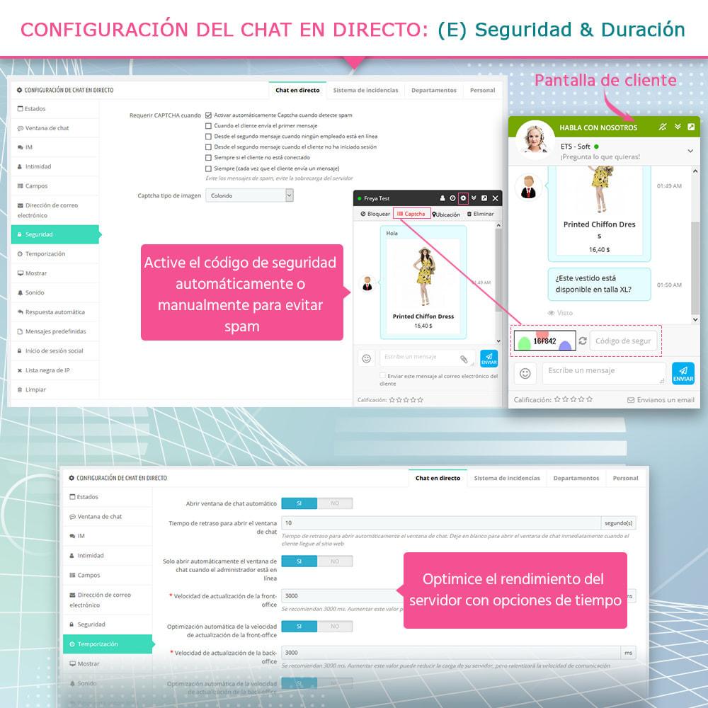 module - Asistencia & Chat online - Chat en directo y Sistema de incidencias - 8