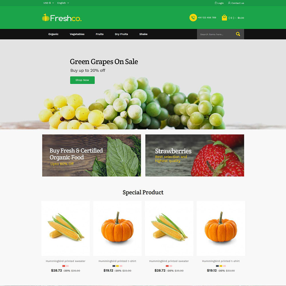 theme - Food & Restaurant - Fresh Vegitables - Fruit Grocery Store - 2