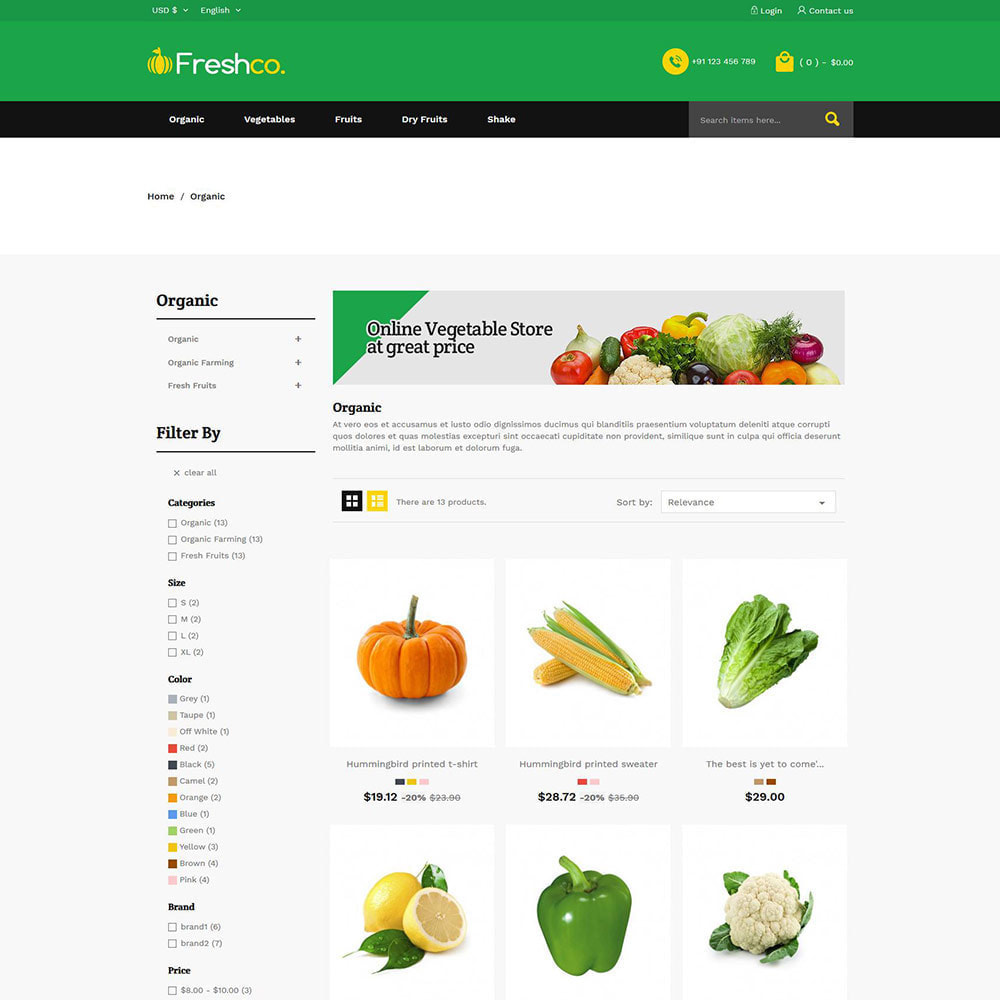 theme - Продовольствие и рестораны - Fresh Vegitables - Fruit Grocery Store - 3
