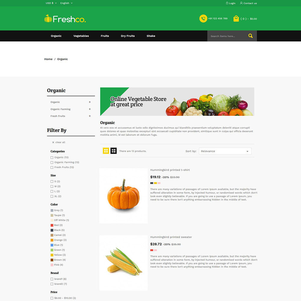 theme - Продовольствие и рестораны - Fresh Vegitables - Fruit Grocery Store - 4