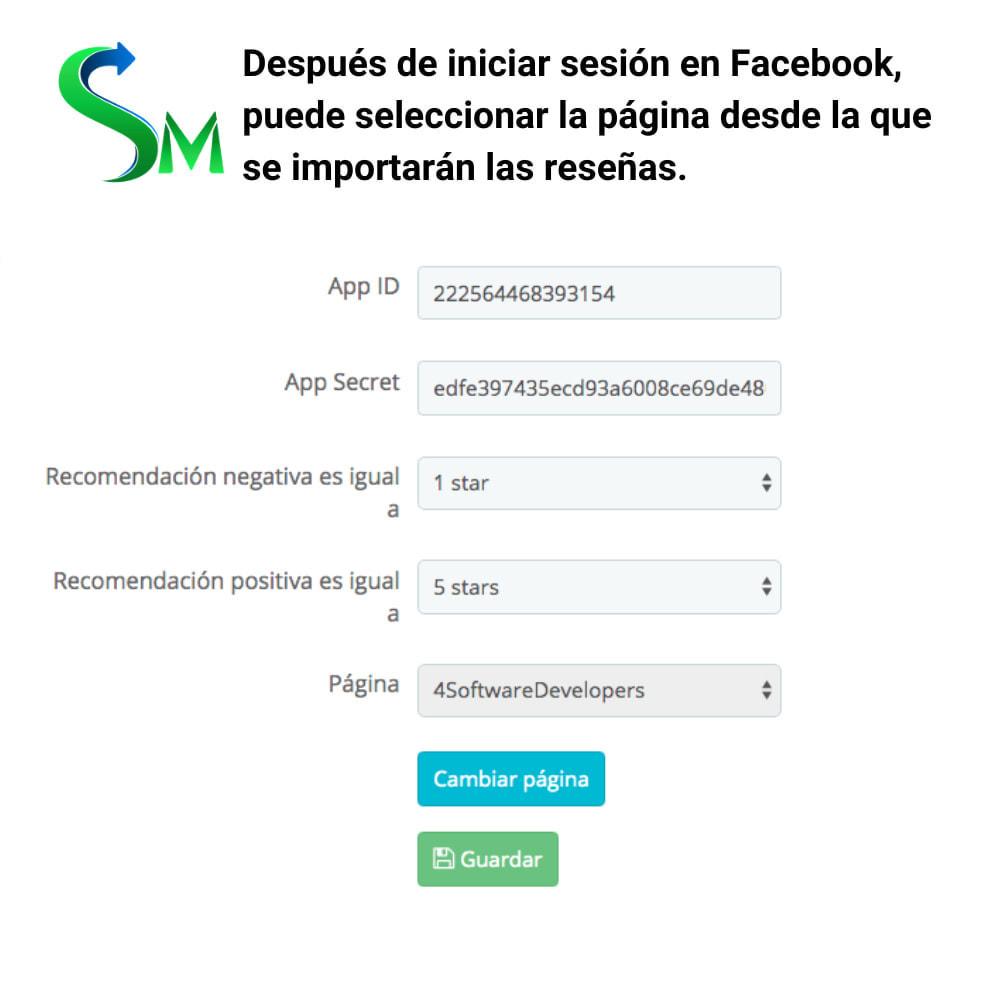 module - Compartir contenidos y Comentarios - Social Reviews Importer - 3
