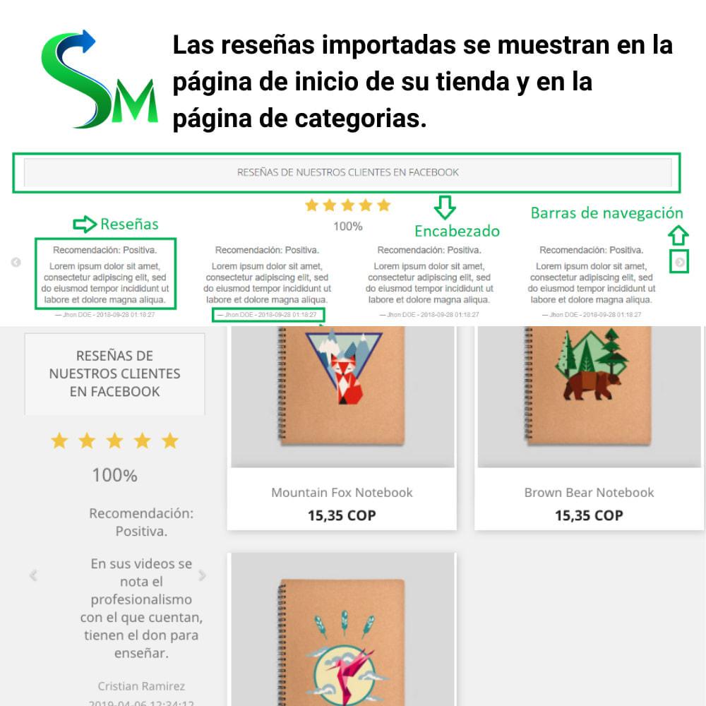 module - Compartir contenidos y Comentarios - Social Reviews Importer - 5